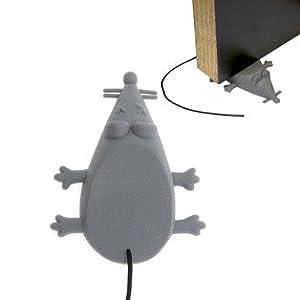Gray dead mouse plastic door stop april fools gag novelty gift office products - Novelty doorstop ...