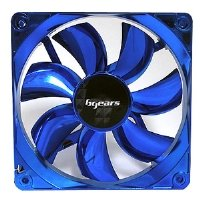 Bgears b-ice 120mm Blue LED Fan with Blue Chrome Coating