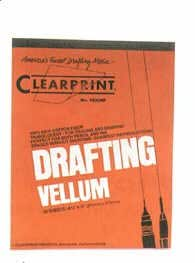 Clearprint Fade-Out Design and Sketch Vellum - Grid 11 in. x 17 in. 10 x 10 grid pack of 10 sheets no. 1000H10