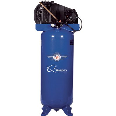 quincy singles Durable quincy 35 hp, 60-gallon vertical stationary single-stage compressor has a small footprint and produces higher cfm per horsepower to deliver more air.