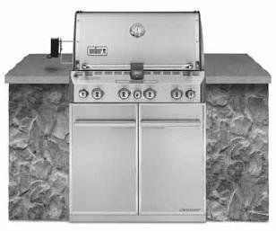 WEBER Summit S-460 Built-In Natural Gas Stainless Steel Grill