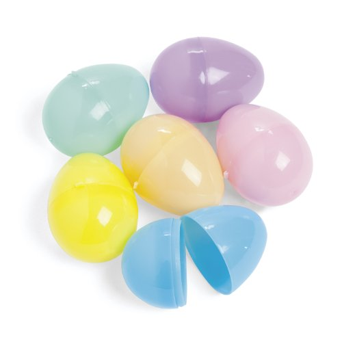 Easter Eggs - Plastic pastel Egg Assortment (144 pc) Fillable
