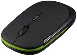 FamilyMall 29sfnuDN3- Ratón inalámbrico USB (óptico, 2,4 GHz), color negro