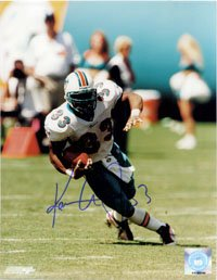 Signed Abdul-Jabbar, Karim (Miami Dolphins) 8x10 autographed
