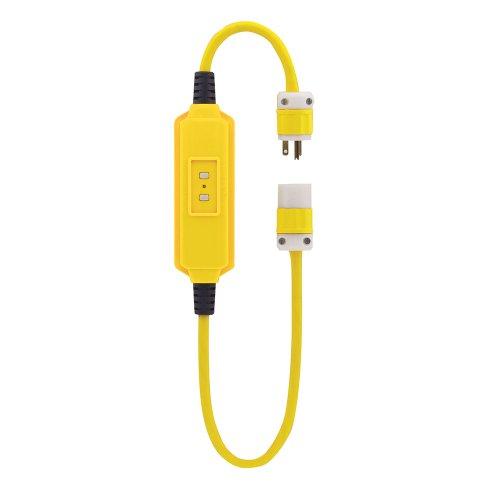 Portable Manual Reset GFCI Cord Set with, 20A, 125V, 3 ft. Cord, 69891-3
