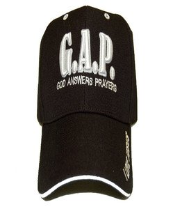 God Answers Prayer G.A.P. Christian hat