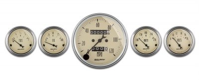Autometer 1808 Antique Beige Series W Kit Box Speedometers
