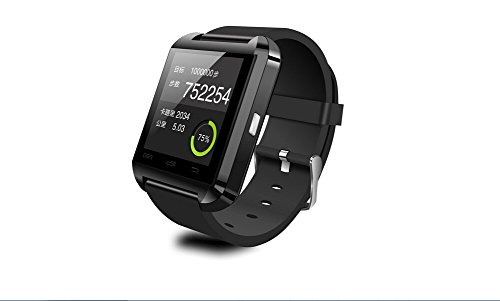 2014 Luxury Bluetooth Smart Watch Wrist Wrap Watch Phone For Ios Apple Iphone 4/4S/5/5C/5S Android Samsung S2/S3/S4/Note 2/Note 3 Htc Nokia Black