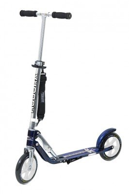 "City Scooter Big Wheel Hudora Alu 8"" LB205 schwarz/blau 205mm"