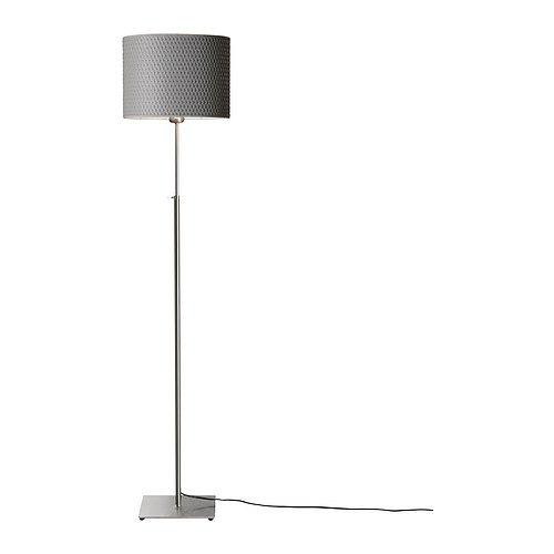 Ikea Alang Floor lamp Nickel Plated,Gray