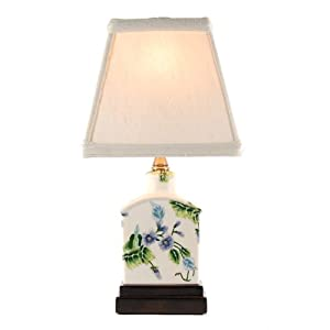 small violets porcelain accent table lamp home. Black Bedroom Furniture Sets. Home Design Ideas