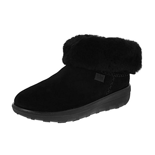 FitFlopTM Mukluk Shorty II Women's Casual Boots in Black and Chestnut 6 Black
