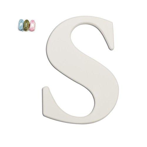 Koala Baby Uppercase Wall Letter S - White