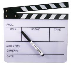 White Director\'s Clapboard