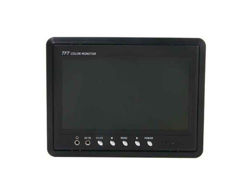 "7"" Hd Tft Lcd Screen Color Remote Control Headrest Monitor (Black)"