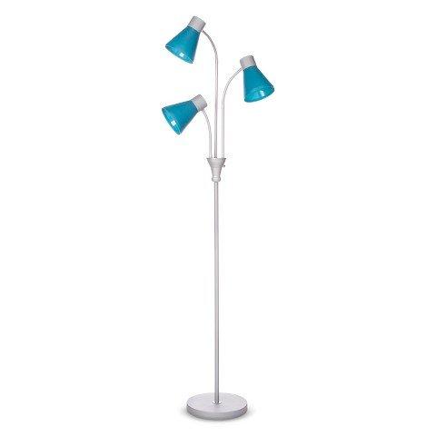 essentials multihead floor lamp blue home garden lighting lamps lamps. Black Bedroom Furniture Sets. Home Design Ideas