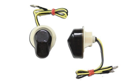 Flush Mount LED Turn Signals - Smoked - Honda 03-09 CBR 600RR, 04-09 CBR 1000RR, 99-00 CBR 600 F4, 01-09 CBR 600 F4i (Honda Cbr600rr Parts compare prices)