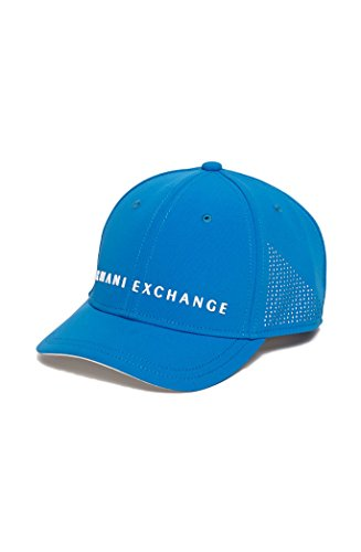 c9bc3f549d9cf Armani Exchange Tech Logo Baseball Cap Hat in Pool Blue Price in India