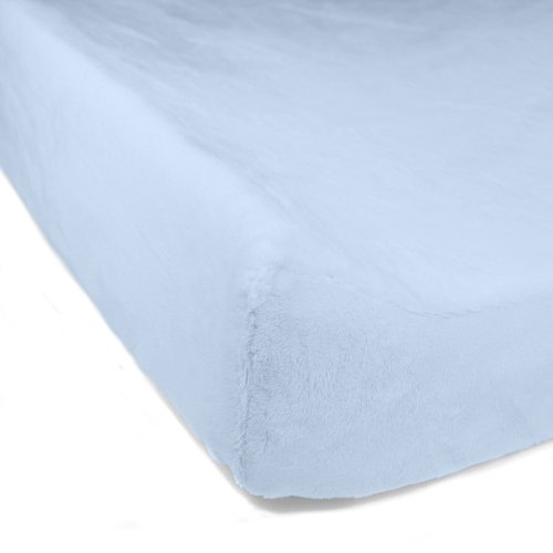 Luxe Basics Cover Comfy Contoured Changing Pad Cover, Baby Blue - 1