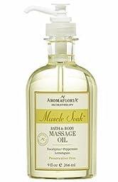 Aromafloria Muscle Soak Bath & Body Massage Oil - 8.4 fl. oz.