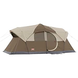 Coleman WeatherMaster 10 Person Hinged Door Tent by D and H Distributing Co