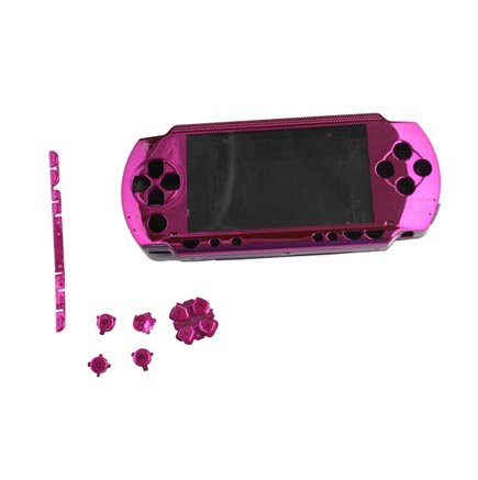 Pink Front Faceplate Face Plate For Sony PSP 1000