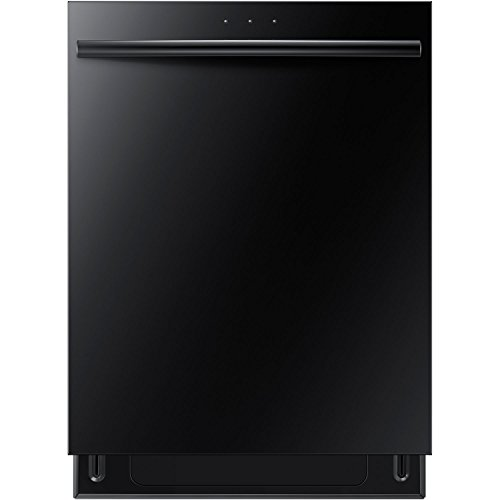 The Samsung DW80F600UTB Energy Star 24 In. Dishwasher, in black, is an incredibly quiet and efficient appliance that can easily