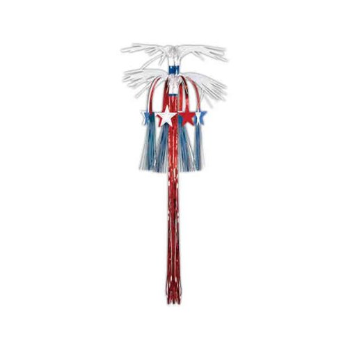 Star Cascade Hanging Column (red, white, blue) Party Accessory  (1 count) (1/Pkg)