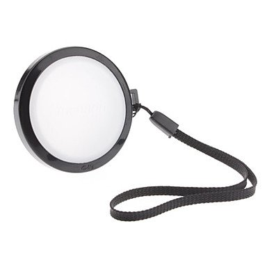 Mennon 49Mm Camera White Balance Lens Cap Cover With Hand Strap (Black & White)