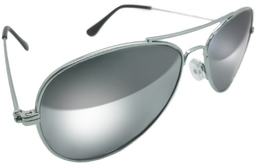 classic ray ban aviator sunglasses  classic full mirror chrome