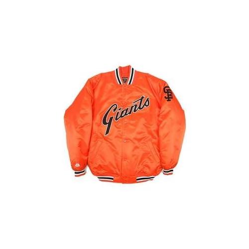 San Francisco Giants Satin Cooperstown Jacket   Orange Medium