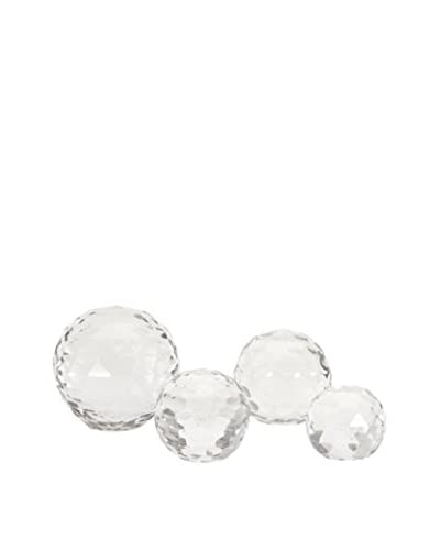 Max & Nellie Set of 4 Cut Crystal Spheres
