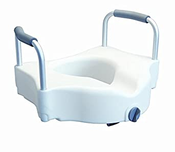 MediChoice Toilet Seat Raised Front Clamping Inches Over
