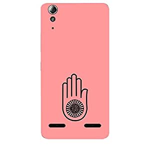 "Skin4gadgets Jainism Symbol ""AHIMSA"" on English Pastel Color-Peach Phone Skin for LENOVO A6000"