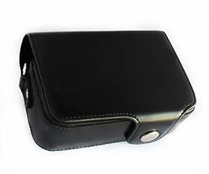 MegaGear Etui souple en cuir pour, Housse pour Sony DSC-RX100M II, Sony DSC-RX100M III Cyber-shot (Noir)