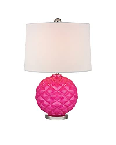Artistic Lighting Table Lamp, Hot Pink/Polished Nickel
