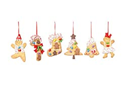 Club Pack of 12 Gingerbread Kisses Assorted Cookie Christmas Ornaments 5""
