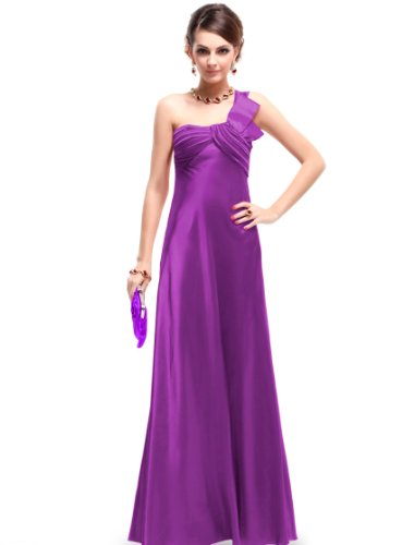 Ever Pretty NWT Purple Long Maxi Ladies Party Dress 09667, HE09667PP12, Purple, 10US