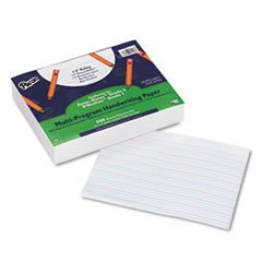 "Multi-Program Handwriting Paper, 1/2"" Long Rule, 10-1/2 x 8, White, 500 Shts/Pk - 1"