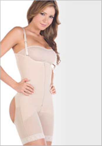 Faja Reductora Colombiana Capri Body Shaper Braless Post Surgery Powernet Girdle