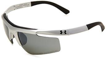 Under Armour Eyewear UA Core S (Matte Silver Frame w/ Black Rubber/Gray