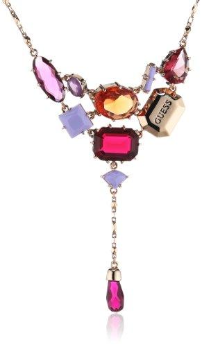 Guess Damen Halskette Sophisitcated Socialite Edelstahl Kristall rosé vergoldet 40 cm UBN91302 thumbnail