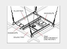 Two Piece Suspended Ceiling Tray for Jumbo Mounts
