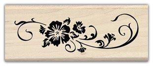 Inkadinkado Rubber Stamp-Botanicals Long Scroll