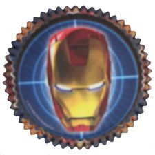 Iron Man '2' Cupcake Cups (50ct) tropical luau party picks 50ct