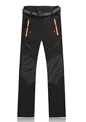 Lanbaosi Womens's Soft Shell Trousers Waterproof Warm Fleece Insulated Ski Snow Pants