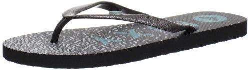 Roxy Women's Mimosa III Sandal,Black/Cyan,10 B US