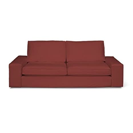 Dekoria Kivik 3-Sitzer Sofabezug dunkelrot