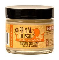Primal Pit Paste Natural Deodorant, Aluminum Free, Paraben Free, No Added Fragrances, Orange Creamsicle Jar