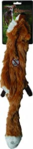 Ethical Plush Skinneeez Fox 24-Inch Stuffingless Dog Toy